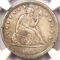 1859 O SEATED LIBERTY QUARTER 25C   NGC XF DETAILS EF