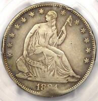 1884 SEATED LIBERTY HALF DOLLAR 50C   PCGS VF DETAILS.  DATE   4,400 MINTED