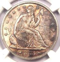 1873 ARROWS SEATED LIBERTY HALF DOLLAR 50C COIN   CERTIFIED NGC AU DETAILS
