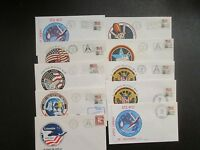 U.S. LOT OF 25 ENVELOPES, UNADDRESSED, TOPIC: SPACE CACHETS