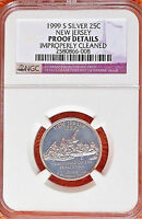 SILVER    1999 S   NEW  JERSEY   STATE  QUARTER    NGC  PROOF  DETAILS