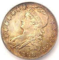 1808 CAPPED BUST HALF DOLLAR 50C   CERTIFIED ICG MS61 BU   $2,810 VALUE