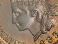 1883 PCGS MS 64 RB MPD FS  402 S 7 PHOTO SEALED INDIAN HEAD CENT