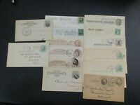 EARLY VINTAGE US STAMP ENVELOPES & POSTCARDS LATE 1800'S-EARLY 1900'SLOT OF 33
