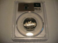 1999 S PCGS PR69DCAM NEW JERSEY CLAD STATEHOOD QUARTER   NICE COIN   FLAG