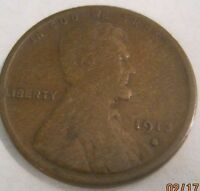 1913S  AG  LINCOLN CENT   L1117  SHIPS FREE