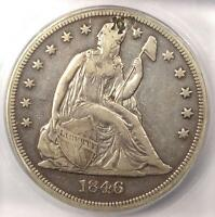 1846 SEATED LIBERTY SILVER DOLLAR $1   ICG XF40 DETAILS    EARLY DATE COIN