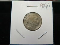 1929 S 5C BUFFALO NICKEL  FINE CIRCULATED CONDITION  FULL HORN  SALE 6996