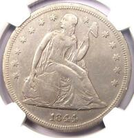 1844 SEATED LIBERTY SILVER DOLLAR $1   NGC VF DETAILS    CERTIFIED COIN