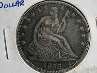 1866 SEATED LIBERTY HALF DOLLAR HIGH GRADE SUPER NICE  BUY IT NOW