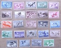 US FEDERAL DUCK STAMP COLLECTION OF 76, FROM RW1 THRU RW70A