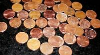 SALE PENNIES DATE FROM 1963 D    YEARS. 50 CENTS/COINS HERE. CIR COND.