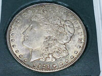 1921 D US MORGAN SILVER DOLLAR TONED RAW NICE COIN