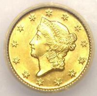 1849 O LIBERTY GOLD DOLLAR COIN G$1   ICG MS63    IN MS63   $3,300 VALUE