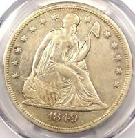 1849 SEATED LIBERTY SILVER DOLLAR $1   PCGS XF DETAILS    EARLY DATE COIN