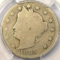 1885 LIBERTY NICKEL 5C   PCGS AG3    KEY DATE CERTIFIED COIN   $400 VALUE
