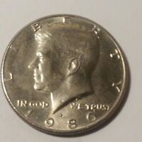 1980 P KENNEDY HALF DOLLAR. CIRCULATED .