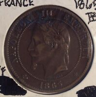 1865 10 CENTIMES NAPOLEON III FRENCH EMPIRE