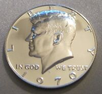 1970 S GEM PROOF KENNEDY HALF DOLLAR // BRIGHT & SHINY // 40 SILVER // MC 210