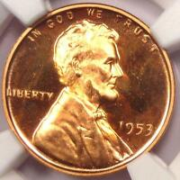 1953 PROOF LINCOLN WHEAT CENT 1C NGC PR65 RD ULTRA CAMEO PF65 UCAM. $875 VALUE