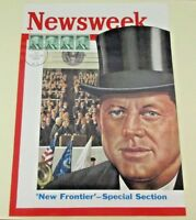 NEWSWEEK MAGAZINE COVER WITH KENNEDY CANCELLATION INAUGURATION DAY 1961  WOW