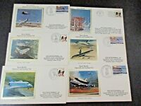 U.S. POSTAL COVERS, 15 SILK CACHETS, TOPIC: SPACE