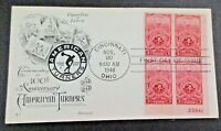 1948 SET OF 5 U.S. FDC HONORING THE AMERICAN TURNERS ASSOCIATION, CACHETS PBS