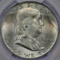 1960 D FRANKLIN SILVER HALF DOLLAR PCGS MS63   LIGHT TONING DOUBLEJCOINS  PP11