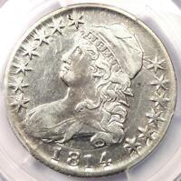 1814 BUST HALF DOLLAR 50C   PCGS XF DETAILS EF    DATE   CERTIFIED COIN