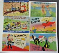 U.S. LOT OF 14 WHIMSICAL POST CARDS, PREVIOUSLY MAILED   LOOK