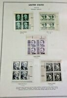 1965-68, US PROMINENT AMERICANS SERIES, 1C-$5, PBS OF 4, MINT NH ASSUMED MOUNTED