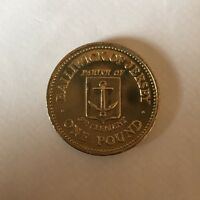 JERSEY ST CLEMENTS ONE POUND COIN UNC  JERSEY PARISHES 1985