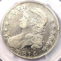 1814 BUST HALF DOLLAR 50C   PCGS VF25    DATE   CERTIFIED COIN   LOOKS XF