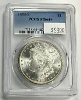 1880 S MORGAN DOLLAR PCGS MS 64 WHITE