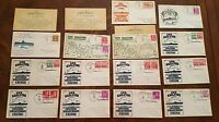 USS SAILFISH SUBMARINE CACHET LOT  NAVAL COVERS WWII SS 192 SIGNED 1940