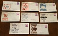 ELECTRIC BOAT CO GROTON CONN SUBMARINE CACHET LOT OF 8 NAVAL COVERS WWII 1944