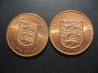 JERSEY 1/12 SHILLINGS 1960 & 1964. HIGH GRADES.