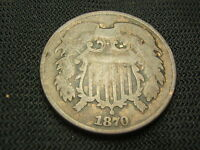 1870 TWO CENT PIECE  GOOD  CLEANED EACH ADDITIONAL COIN SHIPS  FOR FREE