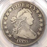 1805-DRAPED-BUST-HALF-DOLLAR-50C-PCGS-VF-DETAILS-   COIN  DJCOLLECTIBLE