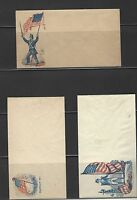 1860S CIVIL WAR ERA PATRIOTIC ENVELOPES/COVERS LOT OF 6