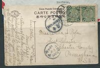 EARLY  CHINA  CHUNGKING TO USA POSTCARD     LOOK C202