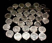 US COINS   NICKLES 1980  89   39 COINS CIRCULATED SOME NEW.  FACE VALUE $1.95.