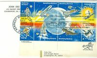 1C GEMS US 1919A  18C SPACE EXPLORATION BLOCK 8  ADDRESSED FDC