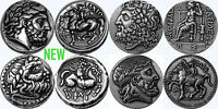 ZEUS KING OF THE GODS 4 GREEK COIN SET  4 VERSIONS  4 ZUESSET S
