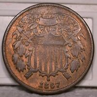 2C 1867 COIN RAW UNGRADED. SELLING OFF COLLECTION G2-15