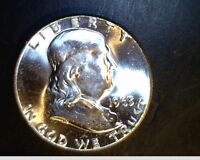 1963 P FRANKLIN HALF DOLLAR FROM MINT HIGH GRADE  .3617 OZ SILVER  US 4366