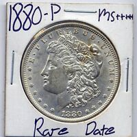 1880 P MORGAN DOLLAR  DATE US MINT GEM PQ SILVER COIN BU UNC MS