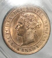 CANADA LARGE CENT 1886 ::ICCS MS 65 RED:LANDON OBV 2  :WIDE DATE:::POP. 3::