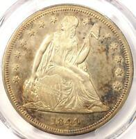 1844 SEATED LIBERTY SILVER DOLLAR $1   PCGS AU DETAILS    EARLY DATE COIN