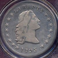 1795 FLOWING HAIR 3 LEAVES  $1 PCGS GENUINE